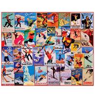 White Mountain Jigsaw Puzzle - Ski Posters