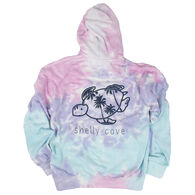 Shelly Cove Women's Cotton Candy Tie-Dye Hoodie