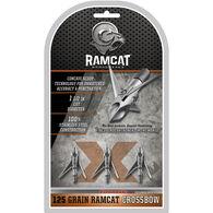 Ramcat Crossbow Hydroshock-X Pivoting 3-Blade Crossbow Broadhead - 3 Pk.