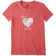 Life is Good Women's Snowflake Heart Short-Sleeve Crusher T-Shirt