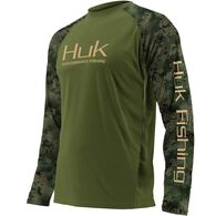 Huk Youth Double Header Long-Sleeve Fishing Shirt