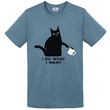 Pacific Art Womens I Do What I Want Cat Short-Sleeve T-Shirt
