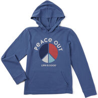 Life is Good Boy's Peace Colorblock Hooded Crusher Long-Sleeve Shirt