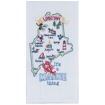 Kay Dee Designs Maine Embroidered Flour Sack Towel