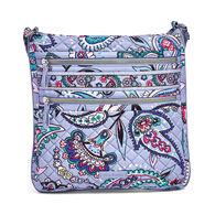 Vera Bradley Signature Cotton 23849 Iconic Triple Zip Hipster Bag