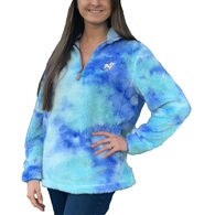 Puppie Love Men's & Women's Tie Dye 1/4-Zip Fleece Top