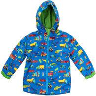 Stephen Joseph Toddler Boy's Transportation Rain Jacket