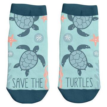 Karma Womens Save The Turtles Ankle Sock