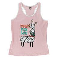 Lazy One Women's No Prob Llama Sleep Tank Top