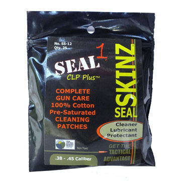 Seal 1 CLP Plus Skinz Pre-Saturated Cleaning Patch - 25 Pk.