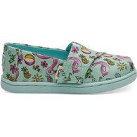 TOMS Boys' & Girls' Tiny TOMS Mint Poolside Floaties Classic Shoe