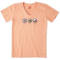 Life is Good Women's Log On Crash Reboot Crusher Vee Short-Sleeve T-Shirt