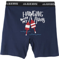 Hatley Little Blue House Men's Hanging With My Buoys Boxer Short
