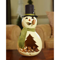 Meadowbrooke Gourds Meadowbrooke Snowman Candy Dish Gourd