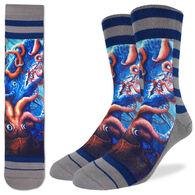 Good Luck Sock Men's Squid Attack Crew Sock