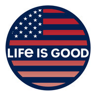 """Life is Good Americana Coin 4"""" Circle Sticker"""