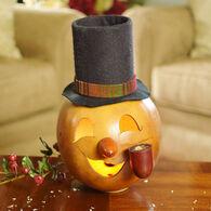 Meadowbrooke Gourds Wally Lit Snowman Head Gourd