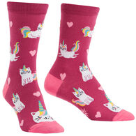 Sock It To Me Women's Look at Me Meow Crew Sock