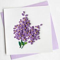 Quilling Card Lilac Everyday Card