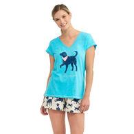 Hatley Little Blue House Women's Bandana Labs Dog Mom Sleepshirt