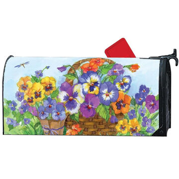 MailWraps Pansy Lane Magnetic Mailbox Cover