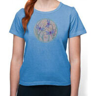 Earth Creations Women's Dragonfly Globe Short-Sleeve T-Shirt