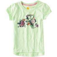 Carhartt Toddler Girl's Wild Flower Tractor Short-Sleeve T-Shirt