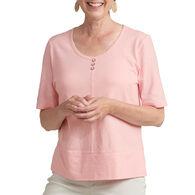 Habitat Women's Three Button Vee Short-Sleeve T-Shirt