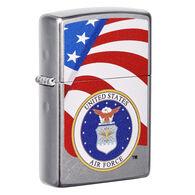 Zippo U.S. Air Force Street Chrome Windproof Lighter