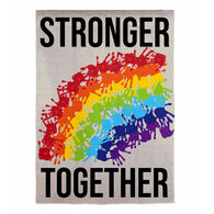 Evergreen Stronger Together Handprints Garden Flag