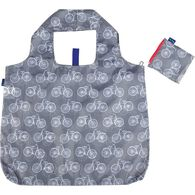 Rockflowerpaper Summer Bikes Grey Reusable Blu Bag