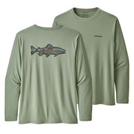 Patagonia Men's Big & Tall Capilene Cool Daily Fish Graphic Long-Sleeve T-Shirt