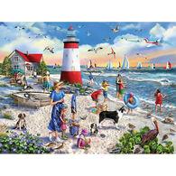 White Mountain Jigsaw Puzzle - Lighthouse Beach