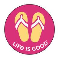 Life is Good Flip Flops Magnet