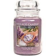 Village Candle Large Glass Jar Candle - Lavender Sea Salt