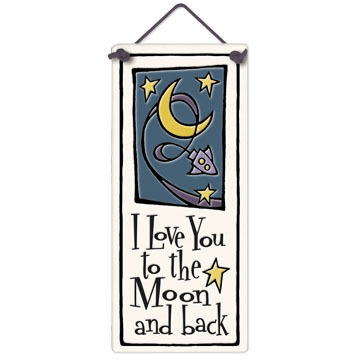 """Spooner Creek """"To the Moon and Back"""" Small Talls Tile"""