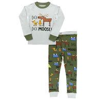 Lazy One Boy's Duck Duck Moose Long-Sleeve Pajama Set