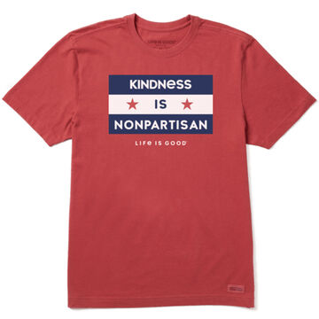 Life is Good Mens Kindness is Nonpartisan Crusher Short-Sleeve T-Shirt