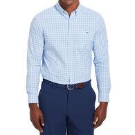 Vineyard Vines Men's Slim Fit Tangelo On-The-Go Performance Trucker Button-Down Long-Sleeve Shirt