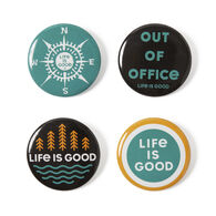 Life is Good Outdoor Positive Pin - 4 Pk.