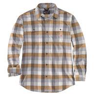 Carhartt Men's Big & Tall Loose Fit Heavyweight Flannel Plaid Long-Sleeve Shirt
