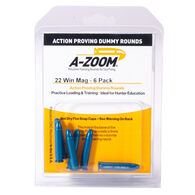 A-Zoom 22 Winchester Magnum Action Proving Dummy Round - 6 Pk.
