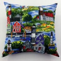"""Moosehead Balsam Fir 5"""" x 5"""" Coastal Village Pillow"""