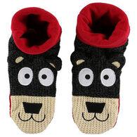 Lazy One Youth Bear Woodland Slipper Sock