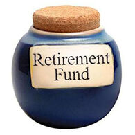 Tumbleweed Pottery Classic Word Jar - Retirement Fund