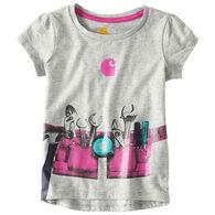 Carhartt Toddler Girls' Tool Belt Short-Sleeve T-Shirt