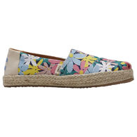 TOMS Girls' Multi Giant Flowers Print Rope Classic Shoe