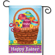 BreezeArt Basket Full Of Eggs Garden Flag