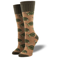 Socksmith Design Women's Outlands Slow And Steady Turtle Sock