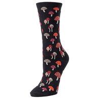 MeMoi Women's Mushroom Field Crew Sock